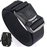 Fairwin Tactical Belt for Men, Upgrade Quick-Release Press Buckle Military Style Nylon Belt with Molle Pouch