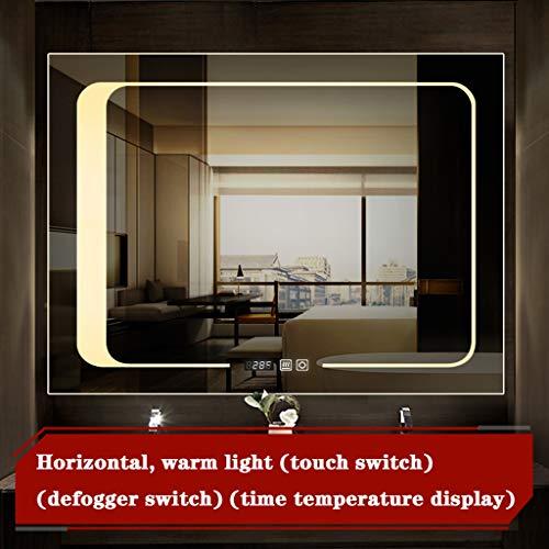 Miroir de la lumière 12v rectangulaire/Vertical sans Cadre rectangulaire de Salle de Bains du miroir LED, miroir de rasage de maquillage