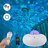 Smart Star Galaxy Projector,Night Light Compatible with Alexa & Google Home/Voice Control,Ocean Wave Projector for Kids Adults,Space Starlight Projector with Bluetooth Music Speaker for Bedroom/Party