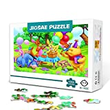 KKASD Jigsaw Puzzle 300 Piece Puzzles for Adults Winnie the Pooh animated poster Wooden Educational Toys DIY Gift Family Fun Jigsaws Puzzles 38x26cm