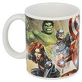 Tazza Avengers in ceramica per Bambini in confezione regalo (Thor Hulk Iron Man Marvel Supereroi)