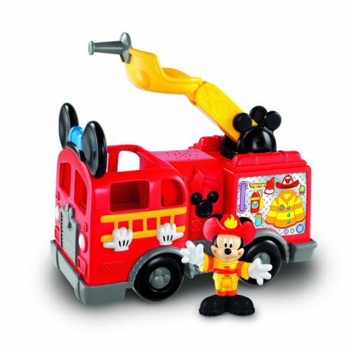Fisher Price - X6124 - Figurine - Jouet Premier Age - Camion de Pompiers - Mickey