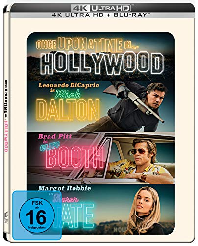 Once Upon A Time In... Hollywood (Limited UHD Steelbook) Amazon Exklusiv [Blu-ray]