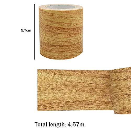 Putuio, Nastro Adesivo per riparazioni in Legno con venature, Forte adesività Impermeabile Cammello Dorato.