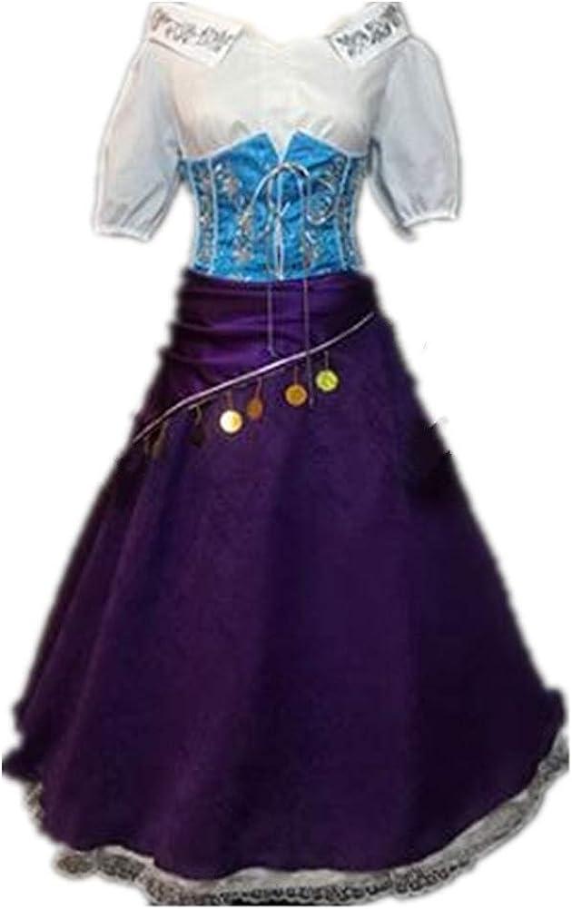 suhero Esmeralda Dress Cosplay Adult Costume Max 88% OFF Halloween Popular overseas C