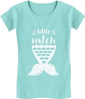 Toddler Girl Little Sister Shirt Mermaid Sibling Infant Girls' Fitted T-Shirt