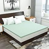 1.5 Inch Mattress Topper Full Size Gel Memory Foam Mattress Bed Pad Green Tea Ventilated Design