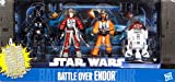 Star Wars 2011 Exclusive Action Figure 4Pack Battle Over Endor #2 Major Mianda, Palso Thern, Grizz Frix R2T7