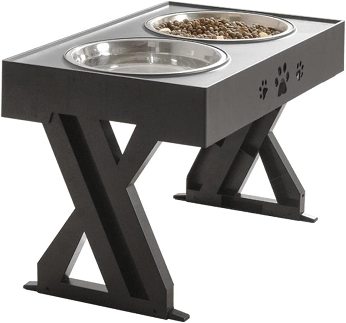 Ranking TOP17 Pet Elevated Bowl Collapsible Dog Max 78% OFF Feeder Sta Metal