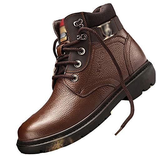Calzado De Invierno, Botas De Nieve Suaves Y Gruesas, Zapatos De Caña Alta Antideslizantes Y Resistentes Al Desgaste, Adecuados para Caminatas, Al Aire Libre,39EU-Brown