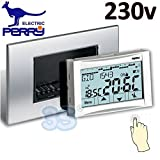 Thermostat digital 230V Einbauleuchte Touch Screen Moon Soft–Perry 1crcds27