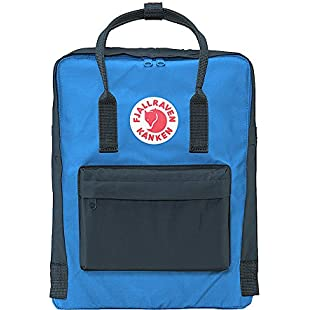 Fjallraven Unisex Backpack Kanken,  Graphite/UN Blue, 38 x 27 x 13 cm, 16 L