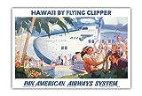 Pacifica Island Art - Hawaii mit Clipper - Pan American