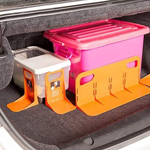 Xyhcs Multifuncional parte posterior del coche auto del tronco del sostenedor del estante fijo de equipaje Caja soporte resistente a las sacudidas de la cerca de almacenaje del organizador titular Dro