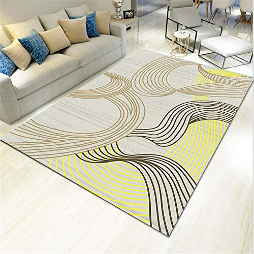 cojin suelo grande bases antideslizantes para alfombras La alfombra amarilla de la sala de estar es resistente a la suciedad, resbaladiza, a prueba de humedad y no se desvanece ni se deforma. alfombra