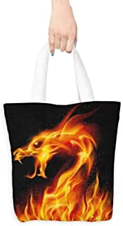 Work package Dragon Abstract Fiery Creature on Black Background Legendary Fantastic Asian Illustration Coin cash wallet 16.5