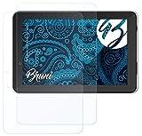 Bruni Schutzfolie kompatibel mit Trekstor SurfTab Xiron 10.1 Pure Folie, glasklare Bildschirmschutzfolie (2X)