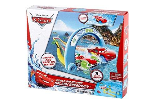 Mattel Disney Cars x9744 – Eau de Circuit pour la Baignoire, + 1 Véhicule de Course