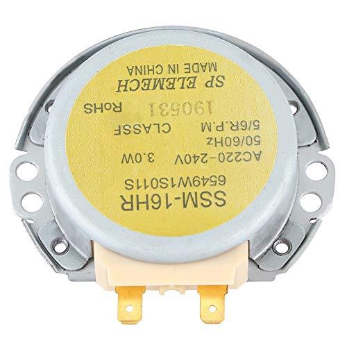 Omabeta Motor de Horno de microondas Apto para LG 6549W1S011S Placa giratoria de microondas SSM-16HR Motor síncrono de Horno de microondas AC 220-240V