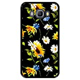 Hapdey Funda Negra para [ Samsung Galaxy J5 2016 ] diseño [ Patrón Floral, Flores Multicolores 2 ] Carcasa Silicona Flexible TPU