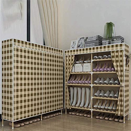 Zapatero Gabinete de madera maciza de zapatos compartida zapato Gabinete simple económico de múltiples funciones a prueba de polvo multi-funcional capa de ensamblaje for ahorrar espacio 85X30X115Cm