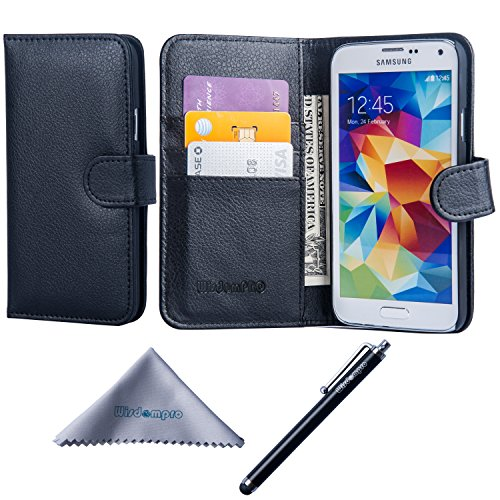 Galaxy S5 Case, Wisdompro Premium PU Leather...