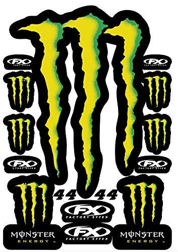 KIT STICKERS ADESIVI MONSTER SPONSOR MOTO COMPATIBILI PER KTM HONDA YAMAHA KTM CROSS ENDURO CASCO (44)