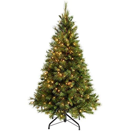 WeRChristmas Pre-Lit Vittoriano Pino Multi-Funzione Albero di Natale con 300luci LED a Candela, Bianco Caldo, Verde, 1,5m/1.5m, Green, 5 ft/1.5 m
