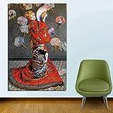 KWzEQ Famoso Pintor Lienzo Papel Tapiz Sala de Estar decoración del hogar Pintura al óleo Moderna Pared Arte Cartel Imagen,Pintura sin Marco,80x120cm