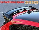 TBJDM ABS Posterior del Coche del alerón Alerón Trasero Adaptable a Ford Focus 2019 2020, Puerta del Maletero Labio Ventana de Guillotina,Brightblack