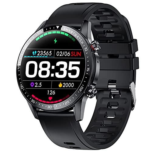 PHIPUDS Smartwatch Hombre,Reloj Inteligente Mujer con Llamada,Pulsómetro,Cronómetros,Calorías,Monitor de Sueño,música,Podómetro Monitores de Actividad Impermeable IP67 Compatible con Android iOS