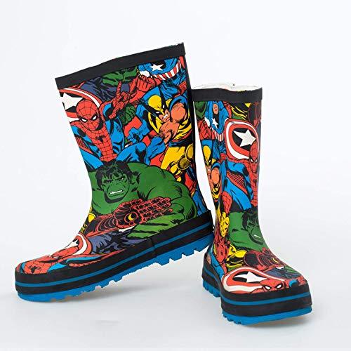 Caihuahua Superheld Big League Regen Stiefel Cool Boys Wasserschuhe Regen Schuhe Spider-Man Hulk Regen Schuhe 27Code18.5cm A