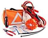 NoOne Car Safety Kit, Multi Functional Roadside Assistance Emergency Kits- First Aid Kit, Jumper Cables, LED...