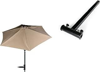 Camco 51959 9' Tilting Umbrella (Beige) + Camco 51958 Hitch Mount Umbrella Holder