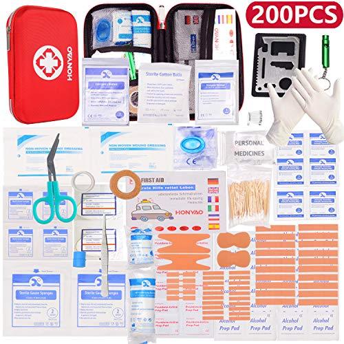 Botiquín de Primeros Auxilios de 204 artículos, Survival Tools Mini Box -...