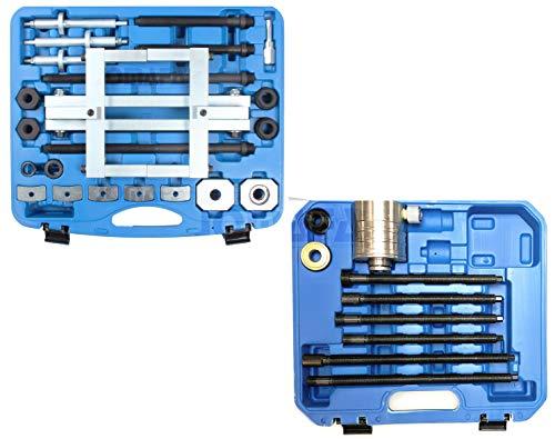 Extractor de inyectores hidraulico 17 toneladas con juego de adaptadores para Fiat, Ford, Opel, PSA Citroen peugeot y Suzuki