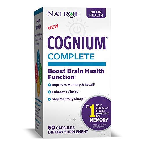 Natrol Cognium Complete, Brain Health, 100 mg, Capsules, (60 Count)