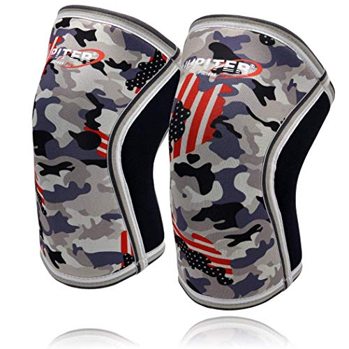 Knee Sleeves (1 Pair), 7mm Compression Knee Braces for Squats,Weightlifting,Powerlifting,Cross Training for Men & Women (Medium)