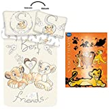 Disney König der Löwen Baby Simba Nala Bettwäsche Kopfkissen Bettdecke Lion King 100x135cm GRATIS...