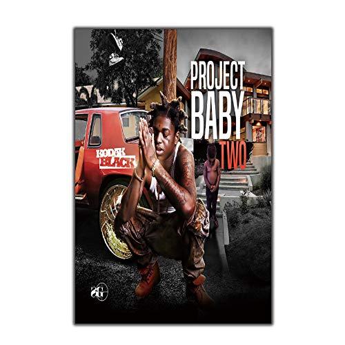 RUIYAN Leinwand Malerei Wandkunst Bild Kodak Schwarz Projekt Baby 2 Mixtape Hip Hop Leinwand Poster Drucken Leinwand Malerei Ohne Rahmen 40 * 60 cm