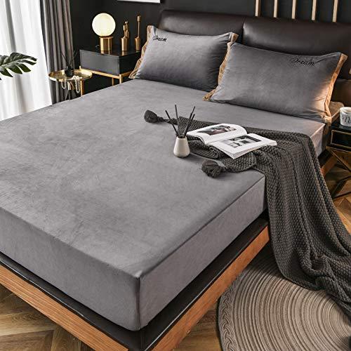 haiba Protector de colchón impermeable transpirable con correas de esquina, 2 piezas - 180 x 200 + 28