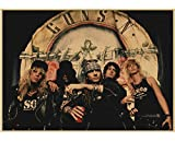 JIUBING Canvas Poster Guns N Roses Rock Music Posters