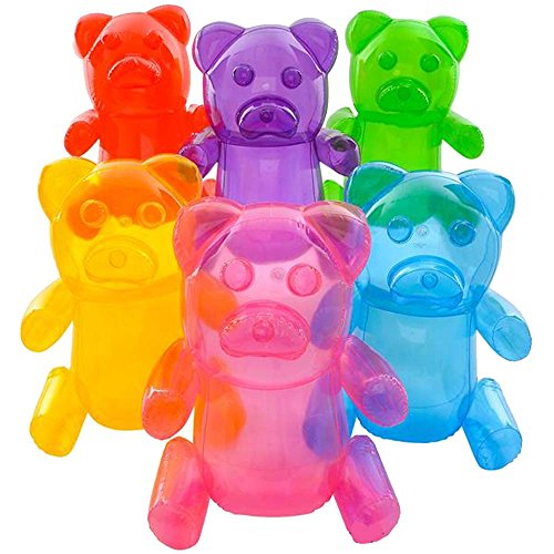 4 asstorted color LARGE 24 INCH GUMMY BEARS CANDY TOY INFLATABLES