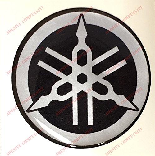 Escudo Logo Decal Yamaha, adhesivo, resina efecto 3d. )