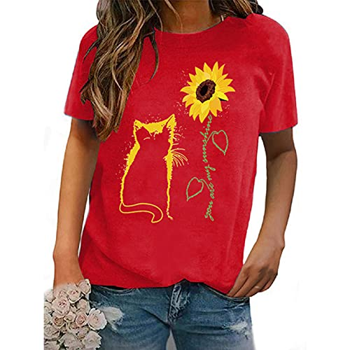 SLYZ 2021 Camiseta Suelta De Manga Corta De Verano para Mujer Camiseta Casual con Estampado De Labios Camiseta De Manga Corta para Mujer