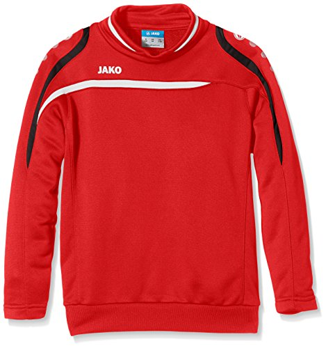 Jako Kinder Sweatshirt Sweat Performance, rot/Weiß/Schwarz, 164