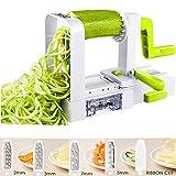 Deik Spiralizer 5 Lames Spiraliseur de Légumes, Pliable Trancheuse Spirale, Courgettes Nouilles et...
