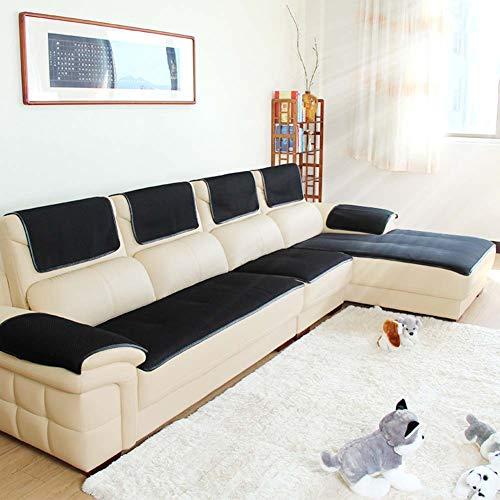 Sofabezug Für ledercouch, Multi-Size Rechteckige Möbel Protector Slipcover Für Haustiere, Kinder, Hunde - Sofa und Sessel-schwarz 70x150cm(28x59inch)