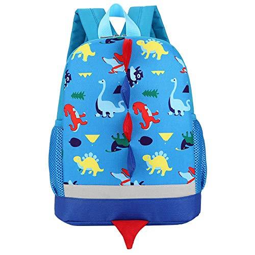 YUHUAWYH Mochila para Niños Dinosaurio de Dibujos Animados Pequeños Mochilas Bolso de Viaje para Niños en Edad Preescolar Niñas 1-6 Años (Cielo Azul)