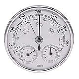 LOOKGOU アナログ 式 壁掛け 温度計 気圧計 湿度計 トリプルメーター